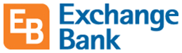 exchange bank logo. e b. exchange bank.