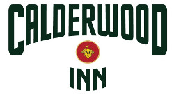 calderwood inn. logo. wilson artisan winery grape leaf seal.