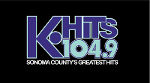 k hits 104.9. sonoma county off beat hits. logo.